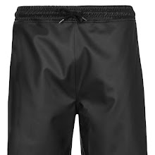 Topman Black Leather Look Shorts