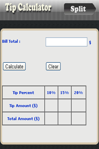 Quick Tip Calculator