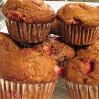 Mimi's Giant Whole-Wheat Banana-Strawberry Muffins