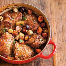Beer-Braised Chicken and Vegetables