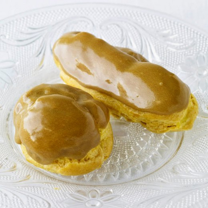 Pastry Cream Powder Eclairs With Pastry Cream And