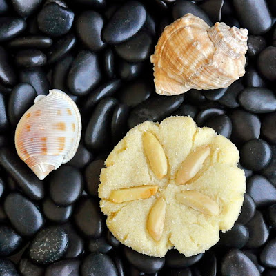 Almond Sand Dollar Sugar Cookies