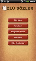 Screenshot of Özlü Sözler