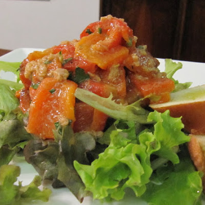 Smoky and Sweet Roasted Red Pepper with Tuna