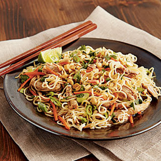 Chinese Pork Tenderloin with Garlic-Sauced Noodles