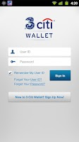 Screenshot of 3 Citi Wallet