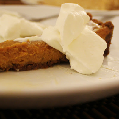 Ginger Pumpkin Tart with Maple Whipped Cream