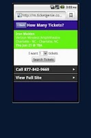 Screenshot of Def Leppard Tour Tickets