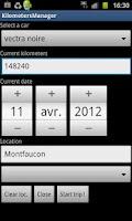 Screenshot of Kilometer Manager