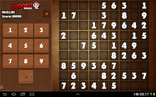 Screenshot of Sudoku Ninja