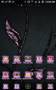 THEME - Purple Paisley - screenshot