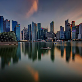 Central Business Park by Ken Goh - City,  Street & Park  Skylines ( , Urban, City, Lifestyle, golden hour, sunset, sunrise )