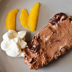 Bittersweet chocolate and orange semifreddo