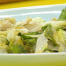 Wilted Escarole with Garlic, Lemon and Oil