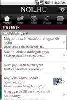 Screenshot of Népszabadság Online