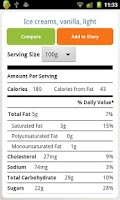 Screenshot of Nutrition Facts FREE