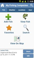 Screenshot of My Fishing Companion Pro