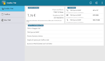 Screenshot of Credito Tim
