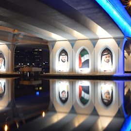 Under the bridge by Aic'ha AR - Buildings & Architecture Bridges & Suspended Structures ( reflection, longexposures, sheikhs, bridge, shadows,  )
