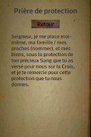 Screenshot of Prières de protection