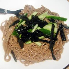 Soba Noodles with Julienned Vegetables