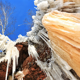 Icicles by Nathan Porath - Landscapes Caves & Formations ( wisconsin, winter, ice, caves, snow, icicles )
