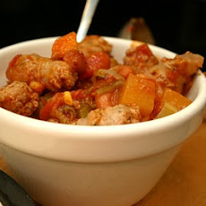 Lincolsnhire Sausage and Mixed Bean Casserole