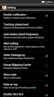 Screenshot of Package Tracker Pro