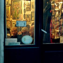 Barber Shop by Sara Kager - City,  Street & Park  Street Scenes ( look, moment, street, croatia, barber, street scene, man, street photography )