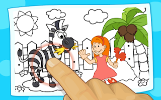 Screenshot of Preschool Games Coloring Book