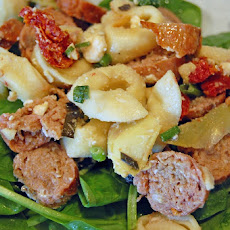 Turkey Italian Sausage and Tortellini Salad