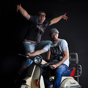 Vespa by Lazar Jovanovic - People Family ( studio, face, vespa, funny, charlie, foto )