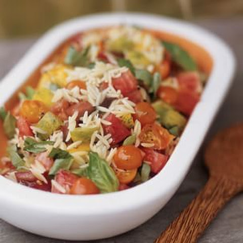 Orzo Salad with Basil and Heirloom Tomatoes