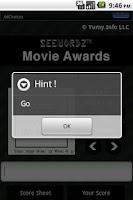 Screenshot of SeeWordz™ Movie Awards Free