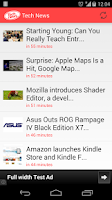 Screenshot of Tech news