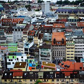 Switzerland by Kryztyn Salinas - Buildings & Architecture Homes ( buildings, switzerland, architecture, homes, crowded,  )