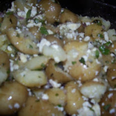Crushed New Potatoes With Mint & Feta