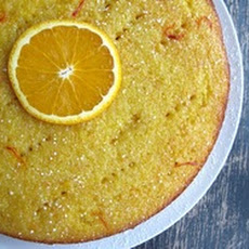 Flourless Orange-Saffron Cake