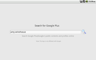 Screenshot of Search for Google Plus