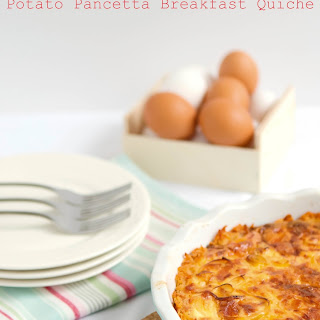 Potato Pancetta Breakfast Quiche