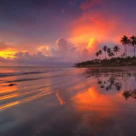Twilight Reflections by Budi Astawa - Landscapes Beaches ( cupel, reflection, twilight, jembrana, beach, negara )