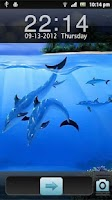 Screenshot of 3D Fish Go Locker Theme