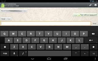 Screenshot of Install Whatsapp on Tablet