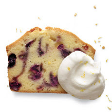 Blueberry-Sour Cream Pound Cake with Lemon Cream