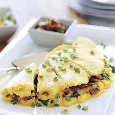 bacon and cheddar omelette for six williams sonoma bacon cheddar water ...
