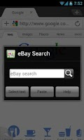 Screenshot of Dolphin eBay Search