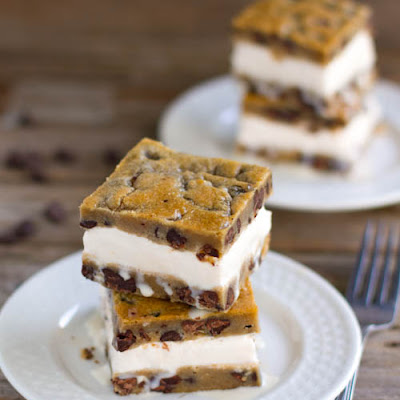 Chocolate Chip Cookie Ice Cream Bars