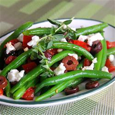 Marinated Green Beans with Olives, Tomatoes, and Feta