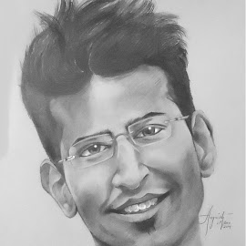 Umang's portrait by Angvish Shaw - Drawing All Drawing ( sketch, paper, umang, pencilsketching, portrait )