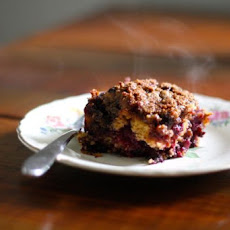 Whole-Grain, Streusel-Topped Blueberry Buckle
